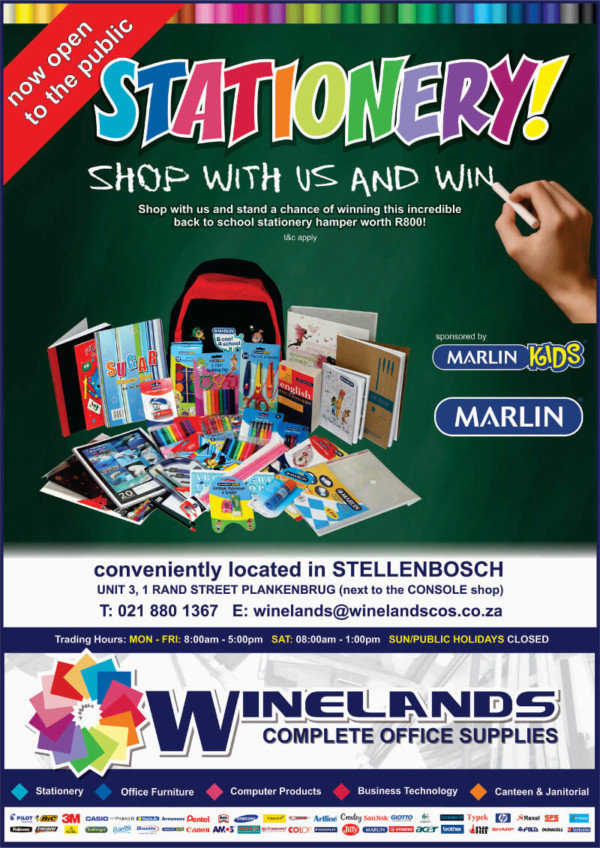 GOOD NEWS - Stationery is Available in Stellenbosch!